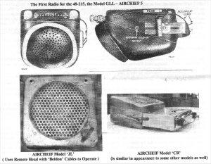 The First Radio for the 48 215, the Model GLL AIRCHIEF 5